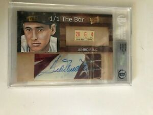 Ted Williams 1/1 The Bar  AUTO / VINTAGE TICKET RELIC  JSA# Y50101