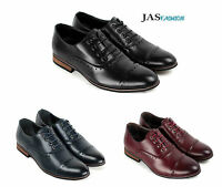 Mens Smart Brogue Lace Up Oxford Shoes Wedding Dress Work Derby Formal Office