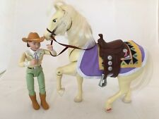 Aspen Gold Western Horse Saddle & Blanket Fisher Price- and Cowgirl  Horse sound