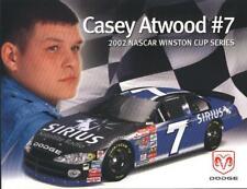 2002 Casey Atwood Sirius Dodge Intrepid NASCAR postcard