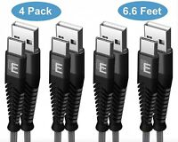 [4 PACK] Type-C Nylon Braided USB Data Sync Charger Charging Cable Cords