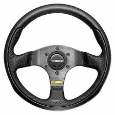 MOMO Team Steering Wheel - Black Leather - 300mm