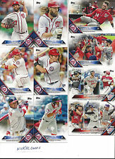 2016 Topps 1 Washington Nationals Team Set Span Trea Turner RC Bryce Harper 14