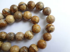 "8mm Round Natural Picture Jasper Gemstone Beads - 15"" Strand"