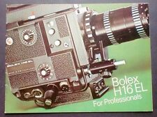 Scienza e Tecnica - Istruzioni d'uso Cinepresa Paillard Bolex H16 EL