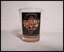 Shot Glass Texas Genuine American The lone Star Star Longhorn Cattle Beef New 11