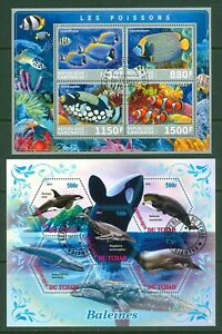 Marine fauna Fishes Whales 2s/s 2011/17