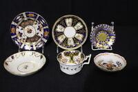 Six Pieces of 19th Century English Handpainted Porcelain; Coalport; Spode, etc.