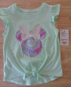 Disney/Jumping Beans Minnie Mouse Sequined Embellished Shirt/NWT/Size 4T