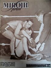 BOXE CHAMPIONNAT EUROPE MOYENS CERDAN BAT FOUQUET N° 37 MIROIR SPRINT 1946