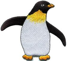 King penguin aquatic bird artic wildlife applique iron-on patch new S-687