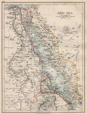 RED SEA. Egypt Eritrea Hedjaz Asir Yemen. Nile valley. Sinai.  JOHNSTON 1903 map