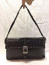 BCBG Max Azria Black Leather Shoulder Bag, Purse, Bag
