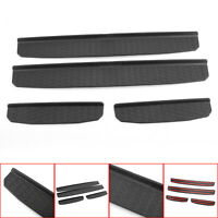Door Sill Entry Guard Scuff Plate Protector Fits 2018 Wrangler JL Black /A5