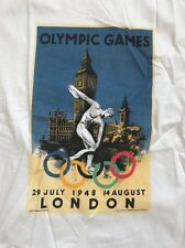 The Olympic Museum T-Shirt London 1948 Size: S  White Adult Unisex 100% Cotton