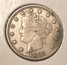 """1883 NO / CENTS' Liberty """"V"""" Nickel   ^^ EXTREMELY FINE ^^  135 YRS OLD   3490"""