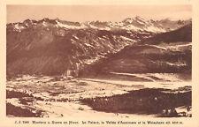 R249209 Montana s. Sierre en Hiver. Le Palace. la Valle d Anniviers et le Weissh