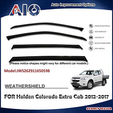 AD WEATHERSHIELD WINDOW VISOR SHIELD FOR HOLDEN Colorado Extra Cab 2012-2017
