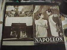 NAPOLEON, orig German Film program [Raymond Pellegrin, Daniel Gelin]
