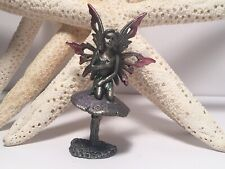 Vintage Pewter Fairy Figurine Pink Purple Green Pastel Mystical Queen 👸� A