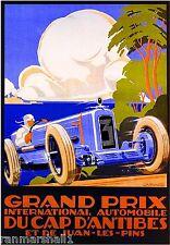 1929 Grand Prix Race Antibes Automobile Car Vintage Advertisement Poster