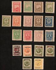 Memel 1923 Sc# N31-N35, N47, N51, N54, N89, Issued under Lituanian Occupation