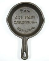 1950s RCA Whirlpool Mableton GA Advertising Mini Cast Iron Pan Skillet Ashtray