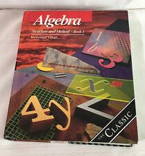 Algebra Structure And Method Book 1 Hardback