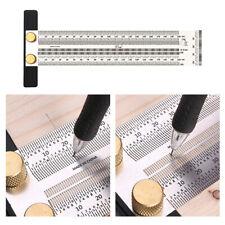 Stainless Woodworking Scribe Marking Gauge Ruler Carpenter DIY Tools