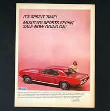 1967 Ford Mustang Advertisement Sports Sprint Red Muscle Car Vintage Print AD