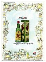 1978 Jingle Bells Christmas gift J & B Rare Scotch box vintage art print ads7