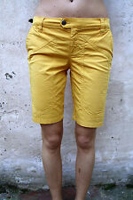 JECKERSON LADY GIALLO CANARINO Standard shorts stretch fit W27 UK10 MADE IN ITALY