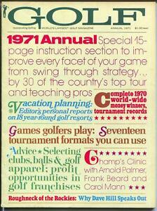Golf Annual 2/1971-tournaments-instruction-Palmer-Fran Beard-Carol Mann-FN