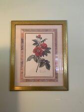 Lg Vintage Rose de Provins, Rosa Gallica by Gerard van Spaendonck Gold Frame