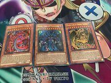 YUGIOH: Sacred Beast Cards Raviel Uria Hamon Ultra Rare LC02-EN001 002 003 Set