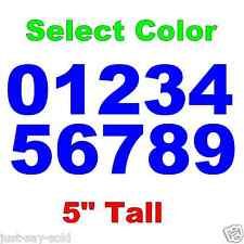 "0-9 Numbers 1x Set Vinyl Decals 5"" Inches - DIY Sign Car Dealer - Select Color"