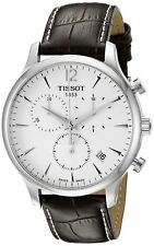 Tissot T-Classic Tradition T0636171603700 Steel Brown Leather Swiss Mens Watch