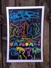 Peinture signée unique - graffiti contemporain street art dessin tableau canvas