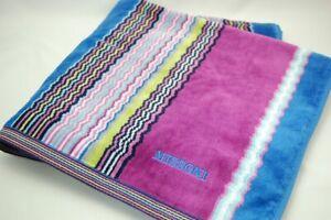 MISSONI Purple/Blue Bath Towel 100% Cotton 126×68cm