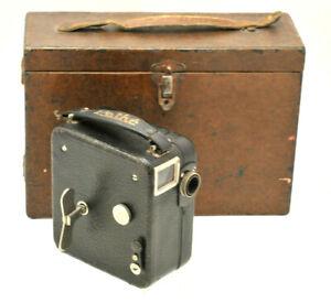 Vintage 9.5mm BABY-CINÉ MOTO CAMERA Pathescope leather strap