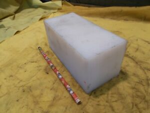 "NATURAL UHMW BAR machinable plastic flat sheet stock 3"" x 3"" x 6 1/2"" OAL"
