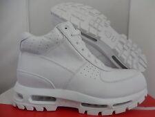 NIKE AIR MAX GOADOME 2013 QS BOOTS WHITE-WHITE SZ 8 [822206-111]