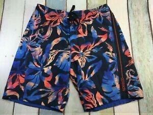 Speedo MENS SIZE L (36-38) Floral Swim Trunks Shorts BOARD SHORTS, MESH LINED