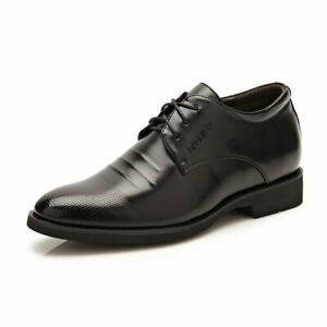 Men Elevator Shoes 6CM/2.4IN Taller Lace up  Oxford Height Increasing Insole