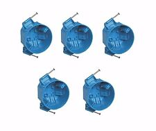 """5-Pce Single-Gang 20"""" Round Ceiling Light Fire New-Work Plastic Electrical-Box"""