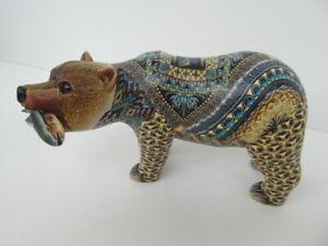 Fimo Clay Millifiori Animal sculpture by Jon Anderson - Medium Grizzly Bear