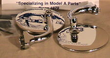"1928-1931 Model A Ford Universal Streetrod Ratrod 4"" Curved Arm Peep Mirrors 1pr"