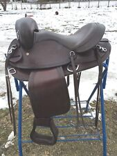 """15"""" brown leather hornless gaited horse trail/endurance saddle"""