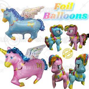 Unicorn Balloons Rainbow 4d colorful Flying Horse Birthday anniversaryParty baln
