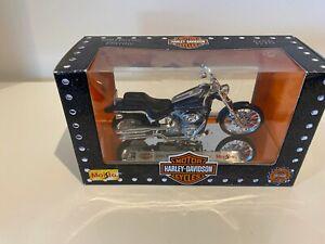 Harley Davidson 2002 FXSTD Softail Deuce Diecast Model Motorcycle by Maisto 1:18